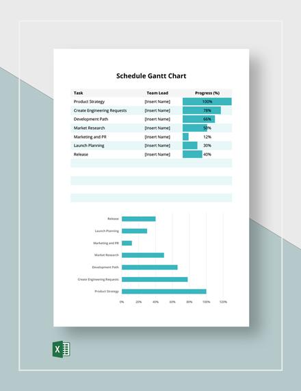 Free Example Schedule Gantt Chart Template