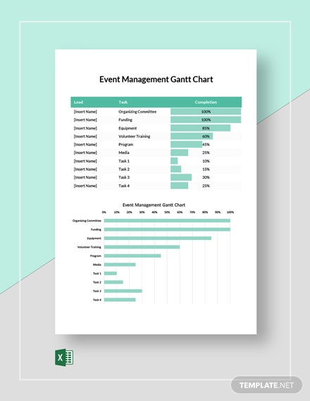 Event Management Gantt Chart Template