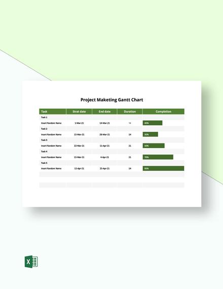 Project Marketing Gantt Chart