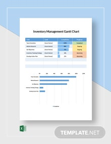 Inventory Management Gantt Chart Template