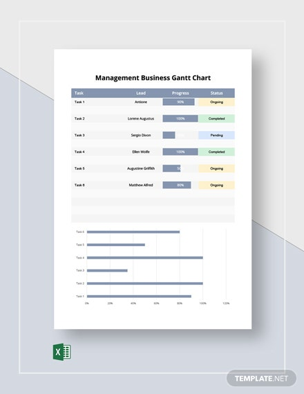 Management Business Gantt Chart Template