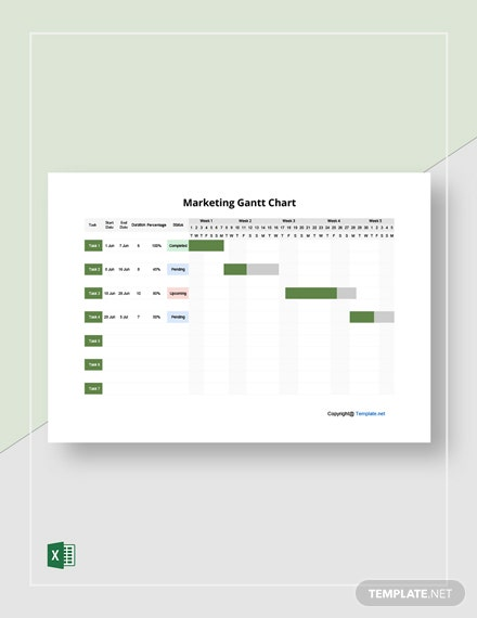 FREE Marketing Example Gantt Chart Template