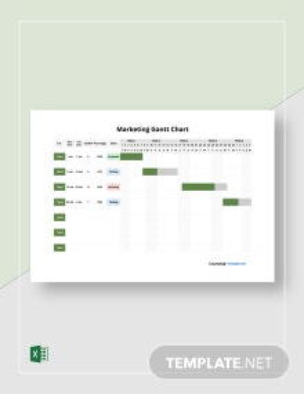 FREE Marketing Example Gantt Chart Template