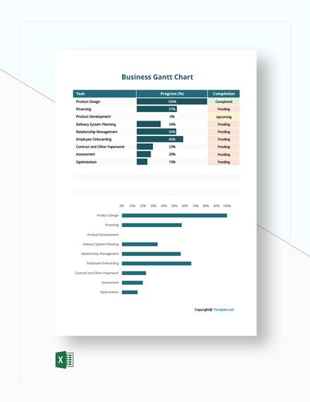 Free Sample Business Gantt Chart Template