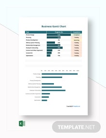 Free Sample Business Gantt Chart Template