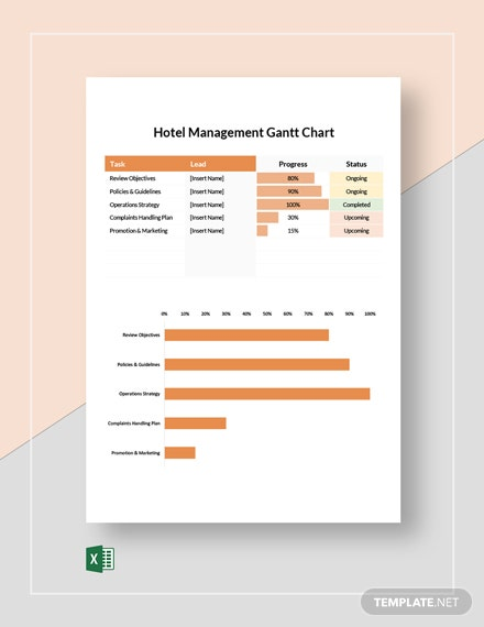Hotel Management Gantt Chart Template