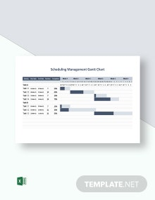 Scheduling Management Gantt Chart Template