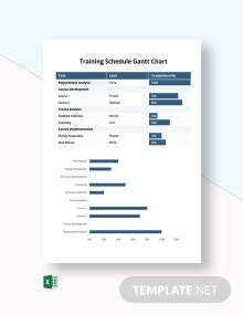 Training Schedule Gantt Chart Template