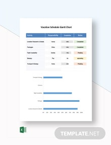 Vacation Schedule Gantt Chart Template