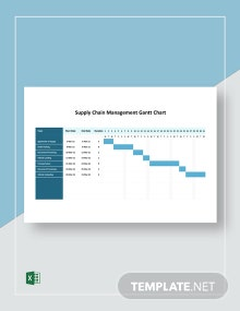 Supply Chain Management Gantt Chart Template