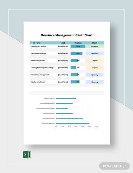 Resource Management Gantt Chart Template