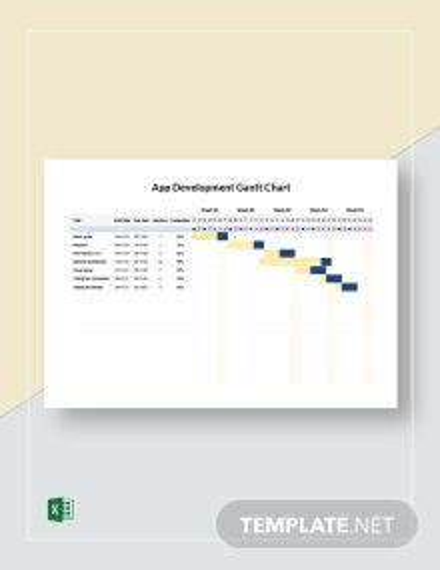 App Development Gantt Chart Template