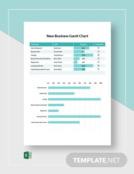 New Business Gantt Chart Template