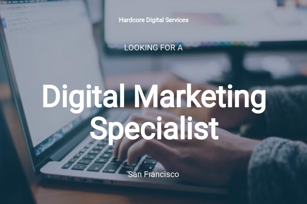 Digital Marketing Specialist Job Ad/Description Template