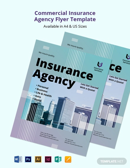 Commercial Insurance Agency Flyer Template