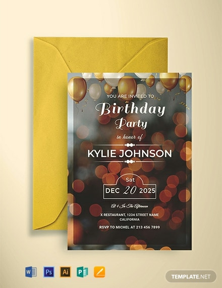 Free Printable Birthday Party Invitation Template