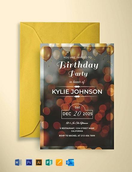 Free Printable Birthday Party Invitation Template