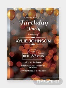 Printable Birthday Party Invitation Template