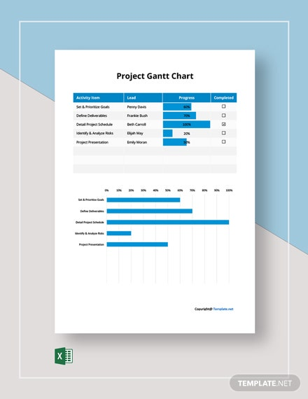 Free Basic Project Gantt Chart Template