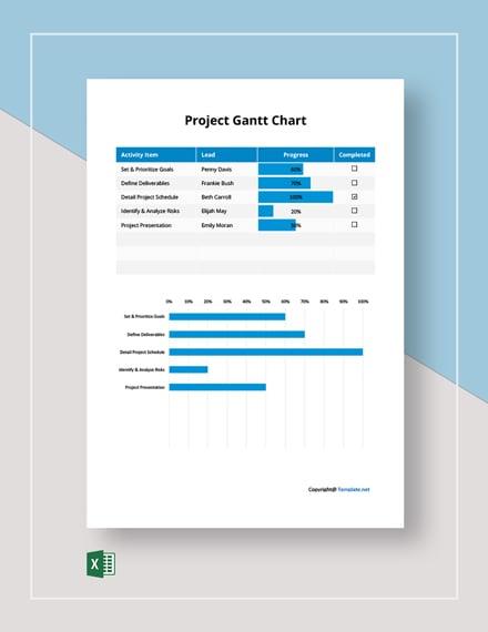 Basic Project Gantt Chart Template