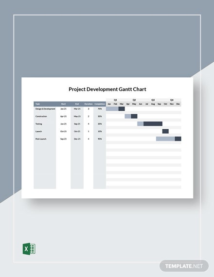 Project Development Gantt Chart Template