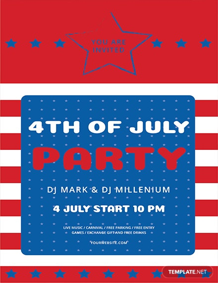 Free 4th of July Flyer Template