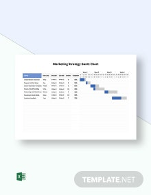 Marketing Strategy Gantt Chart Template