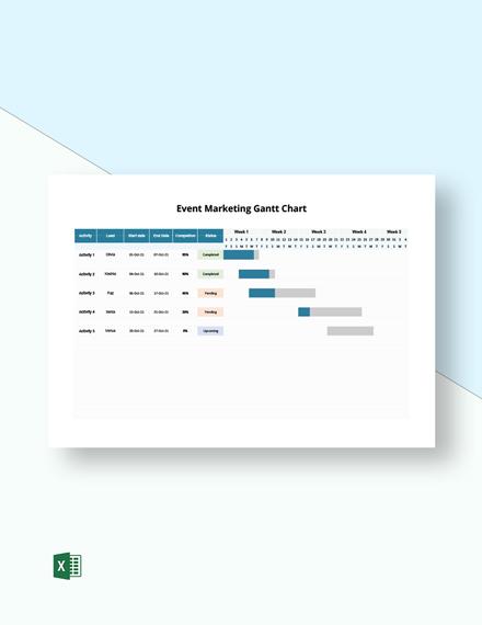 Event Marketing Gantt Chart Template