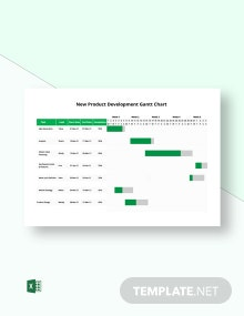 New Product Development Gantt Chart Template