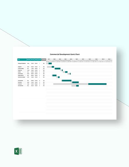 Commercial Development Gantt Chart Template