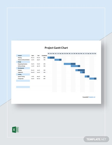 Free Simple Project Gantt Chart Template