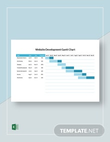 Website Development Gantt Chart Template