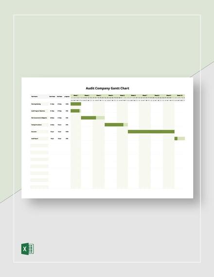 Audit Company Gantt Chart Template