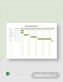 Audit Company Gantt Chart Template