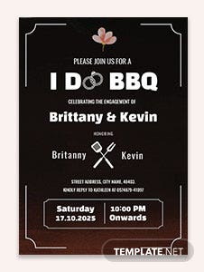 I Do Bbq Engagement Invitation Template