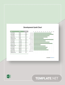 Free Simple Development Gantt Chart Template