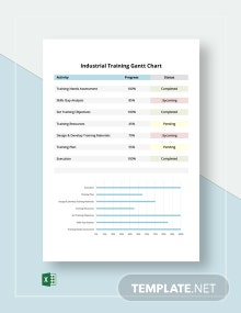 Industrial Training Gantt Chart Template