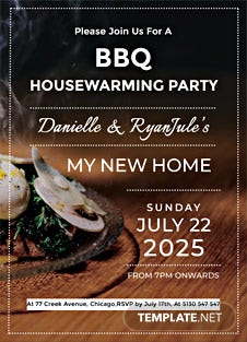 Bbq Housewarming Party Invitation Template