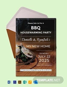 Free Bbq Housewarming Party Invitation Template