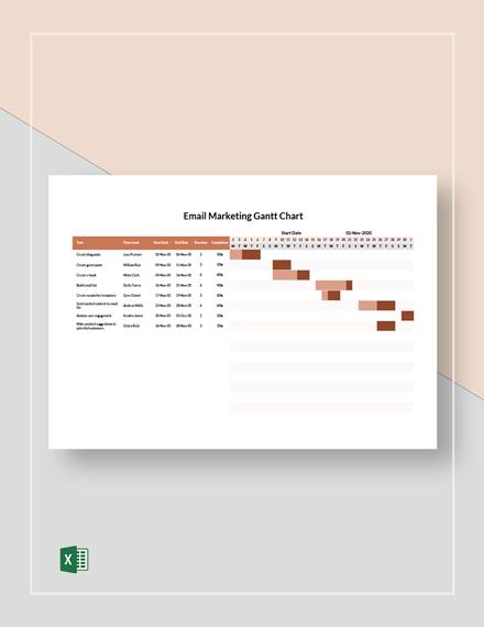 Email Marketing Gantt Chart Template
