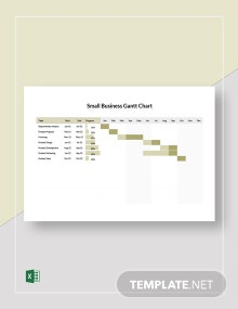 Small Business Gantt Chart Template