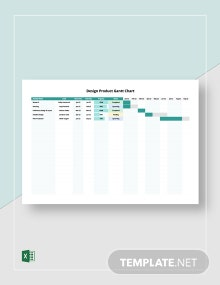 Design Product Gantt Chart Template