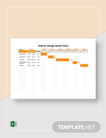 Interior Design Gantt Chart Template