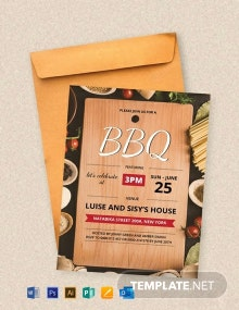 Free Summer Bbq Party Invitation Template