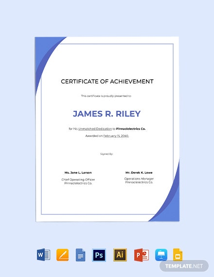 IT Achievement Certificate Template