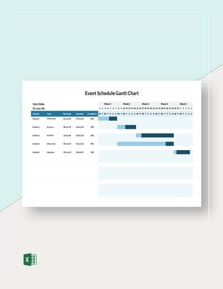 Event Schedule Gantt Chart Template