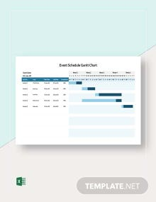 Event Schedule Gantt Chart Template