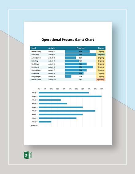 Operational Process Gantt Chart Template