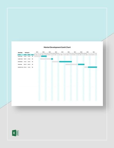 Market Development Gantt Chart Template