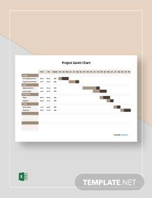 Free Sample Project Gantt Chart Template